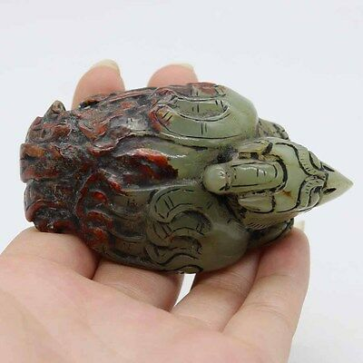 Chinese Oriental culture hand carving HeTian jade pendant of Owl C590