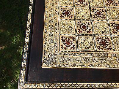 Antique Chess Backgammon c.19th Board Inlaid Micromosaic Islamic