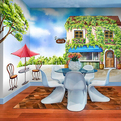 3D House vines 666 WallPaper Murals Wall Print Decal Wall Deco AJ WALLPAPER