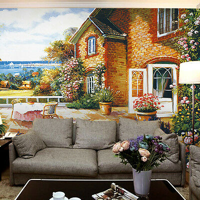3D European house 658  WallPaper Murals Wall Print Decal Wall Deco AJ WALLPAPER