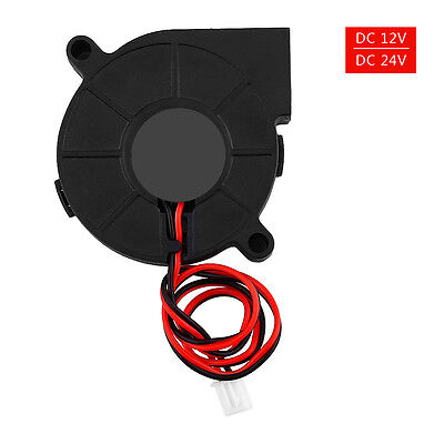 50mm DC 12V/24V Brushless Blow Radial Cooling Fan Air Blower For 3D Printer Part