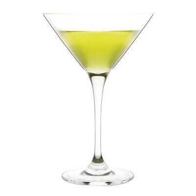 6X Olympia Crystal Campana Martini Glass 260ml 9oz Cocktail Drink Restaurant