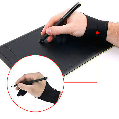 1pc New Two Finger Anti-fouling Glove For Artist Drawing&Pen Graphic Tablet Pad