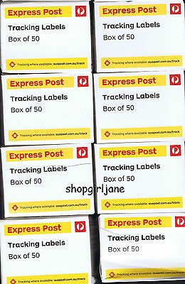 400 (8 boxes of 50) x Australia Post Express Post tracking labels stickers