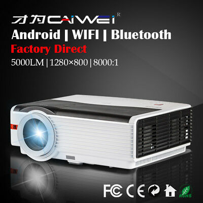 CAIWEI A7(AB) LCD Home Cinema Projector Android Wifi Bluetooth 1080p Movie Game