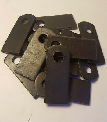 "1"" x 2 3/8"" x 1/8"" Weld On Tab Steel Flat Brackets Set of 6 Brackets"