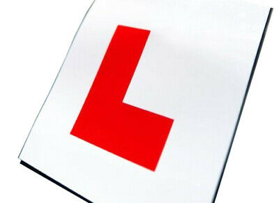 Silverline Magnetic L Plates 2 Pack - Learner Driver, Secure & Easy to Use