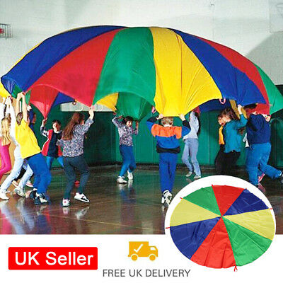 Kids Playing Rainbow Parachute Children Family Outdoor Game Exercise Tool Toy UK