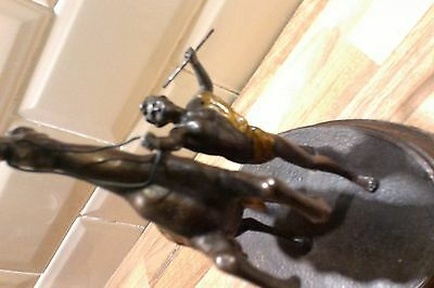 Stunning Rare Immaculate Antique Spelter Marley Horse , Tamer, Reins