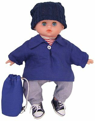 """Petitcollin 11"""" Cuddly First BOY Baby Doll Sailor Finistere Petit Calin, Safely"""