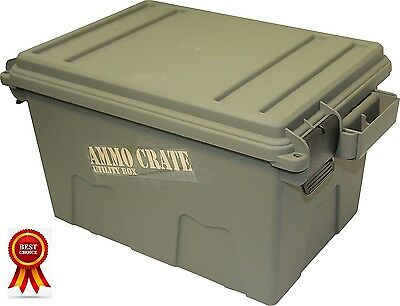 Stackable Ammunition Can Military Ammo Crate Utility Box, Double Padlock, O-ring