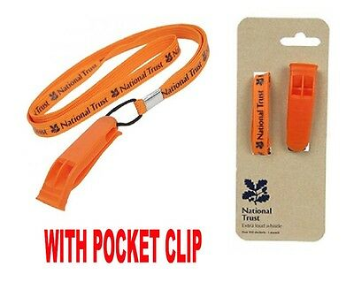 National Trust Emergency Marine / Perry Whistle Plastic -Camping Hiking Survival