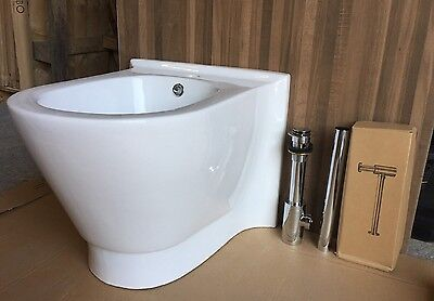Brand New Porcelain BTW Bidet with Waste and Trap