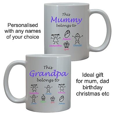 This Daddy Pops Grandpa Uncle Dad Belongs To Mug Cup Birthday Christmas Gift