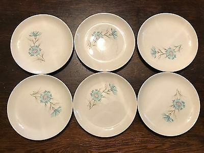 """SIX Taylor Smith & Taylor """"Ever Yours"""" Boutonniere 6.5"""" Bread & Butter Plates"""