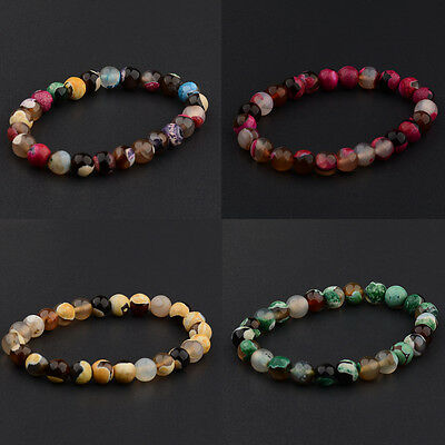 8MM Natural Lava Sone Colorful Beads Charm Hand Beads Beaded Fashion Bracelets