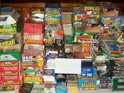 100 Vintage Baseball Cards from Unopened packs!