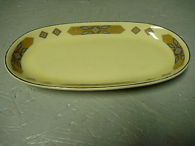 Extremely RARE Vintage Cavitt - Shaw W. S. George Navaho Brown Pattern Relish Tr