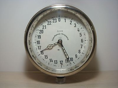 Vintage 24 Hours 1954 Russian Ussr Military Navy Marine  Ship Boat Clock Watch
