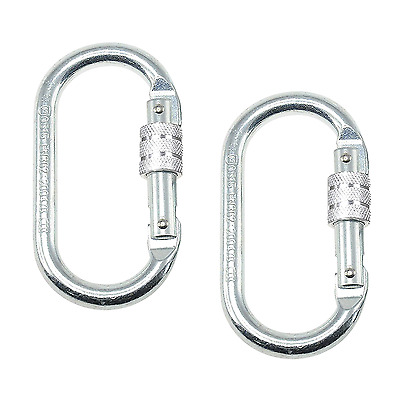 ArunnersTM Rock Climbing Locking Carabiners Large Heavy Duty Screw D Ring