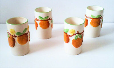 Lot of 4 Napcoware Tumblers with Oranges made in the 1950s