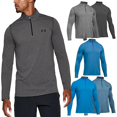 2018 Under Armour Mens Threadborne Fitted Half Zip Top - UA Sports Golf Training