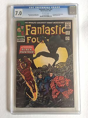 Fantastic Four 52 Marvel First Appearance Black Panther CGC 7.0 Graded 1st
