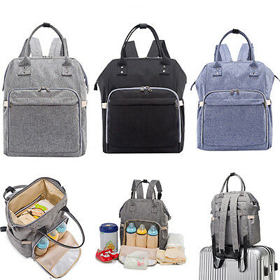 Pretty Baby Diaper Nappy Changing Mummy Bag Backpack Shoulder Bags MultiFunction