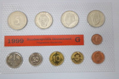 Kursmünzensatz KMS Deutsche Mark 1999 G