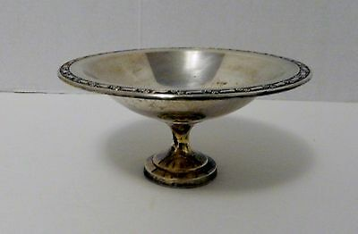 Oneida Silversmith's Silver Plate Compote Dish Bowl Pedestal Decorative