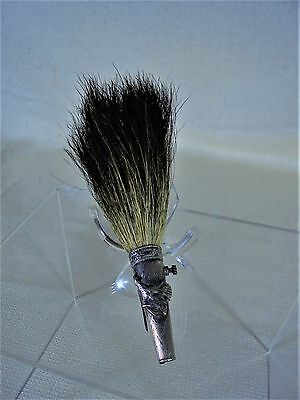 Vintage Scottish Tam Pin With Boar Bristles and Silver Colored Cone Duck Design