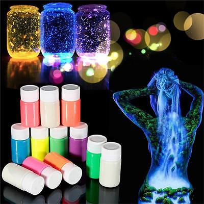 Glow in the Dark Acrylic Luminous Paint Bright Pigment Party Decoration DIY*20g