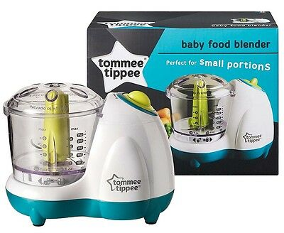 Tommee Tippee Explora Electric Baby Small Handy Food Blender W/Lid Safety Lock