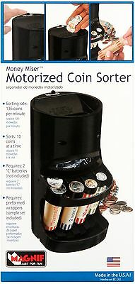 Coin Sorter Machine Change Counter Motorized Auto Money Roller Wrappers Included