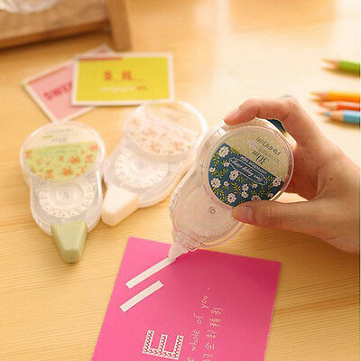 New Non-Refillable Roller Correction Tape White Out School Stationery Random