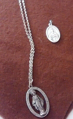 Religious necklace & medal -Mary Mother of God & St. Jude medal (made in  Italy)