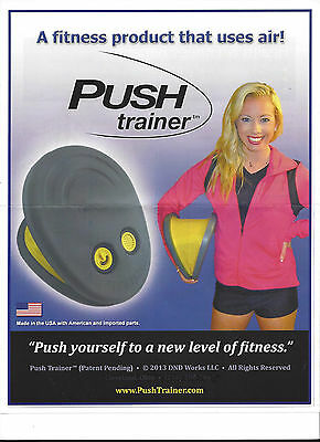 PUSH TRAINER home gym fitness workout THIGHS chest ARMS resistance training NEW!