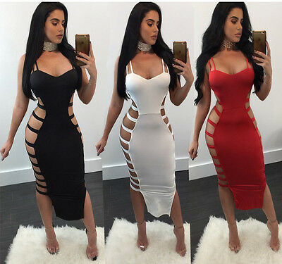 Sexy-Womens-Sleeveless-Bandage-Bodycon-Evening-Party-Cocktail-Club-Dress