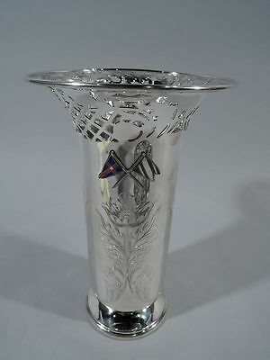 Shreve, Crump & Low Vase - Antique Edwardian - American Sterling Silver & Enamel