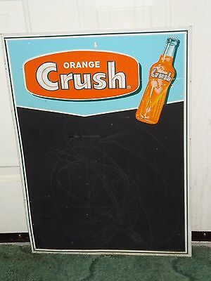 VINTAGE METAL ORANGE CRUSH SODA MENU CHALKBOARD STOUT SIGN Co.