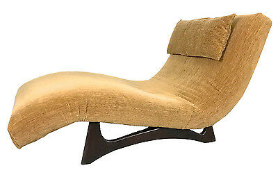 Vintage Adrian Pearsall Craft Assoc Double Wave Chaise Lounge Mid Century Modern