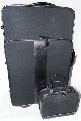 COACH Travel Luggage Set: Rolling Carry On & Cosmetic Toiletry Case - GUC - 5955