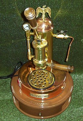 ESTATE Copper & Brass ELEKTRA  S1 Microcasa Lever ESPRESSO MACHINE w/BASE Beauty