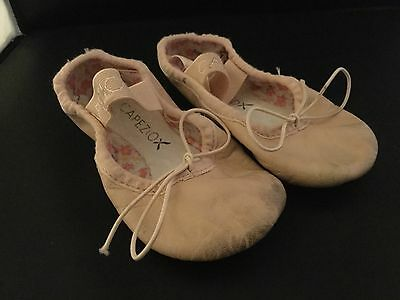 Capezio Dance shoes ballet toddler 7 wide pink leather