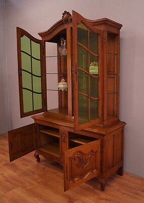 french oak BOOKCASE display cabinet