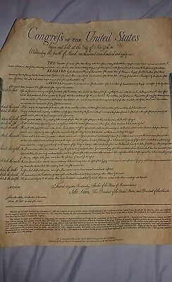 Philip Morris Company 200Th Anniversary Bill Of Rights W/ Chairman Letter & Tube