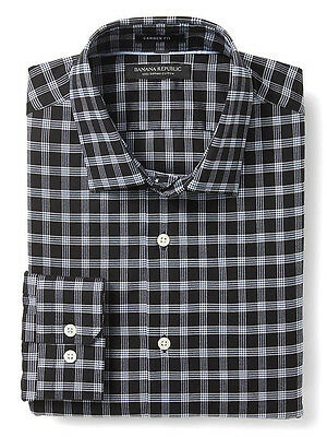 NWT Banana Republic New $79.50 Men Camden-Fit Supima Cotton Shirt Size XS, Small