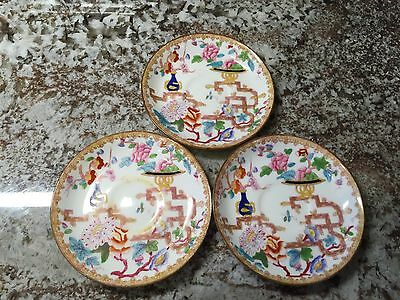 Minton Pattern # 2064 3 Chinese Tree (Smooth) Saucers