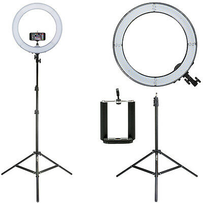 Prismatic LED Halo Ring Light w/ Light Stand and Phonemount