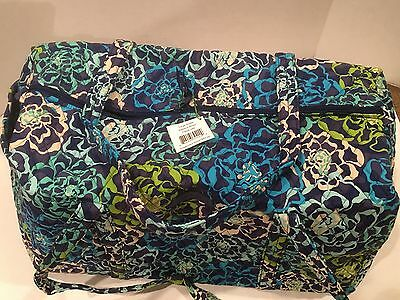 Vera Bradley Large Duffel Travel Bag in Katalina Blues Quilted Large Suitcase